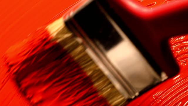 vídeos y material grabado en eventos de stock de pintura acrílica roja con mezcla con mezclador de mano - acrílico