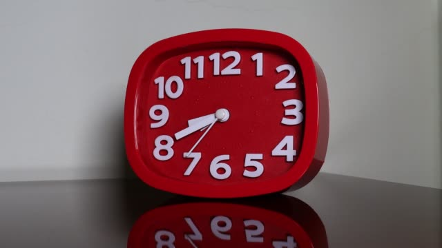 r/t red alarm clock - quartz stock videos & royalty-free footage