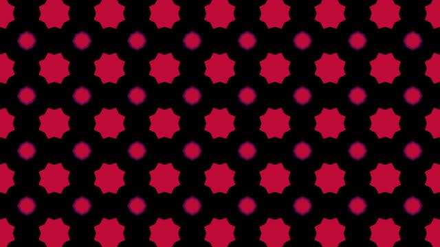 赤と黒の幾何学的形状、パターンモーション - 投影図点の映像素材/bロール