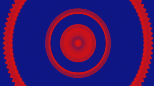 Red and blue hypnotic memorizing abstract background