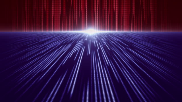 red and blue perspective backdrop dot abstract pattern background - computer equipment stock videos & royalty-free footage