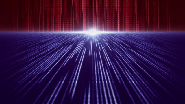 vídeos y material grabado en eventos de stock de fondo de patrón abstracto de telón de fondo de perspectiva roja y azul - equipo informático