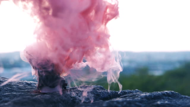 Red and Pink Smoke