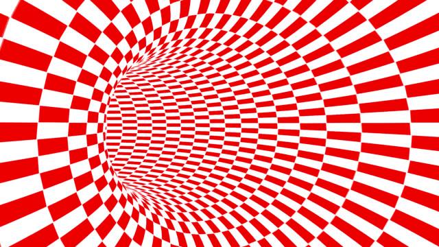 vídeos y material grabado en eventos de stock de túnel de cuadros rojo y blanco - surrealismo