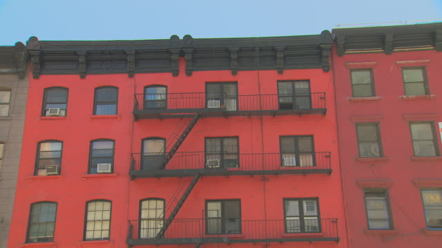 ZI red apartment building / New York, New York, USA