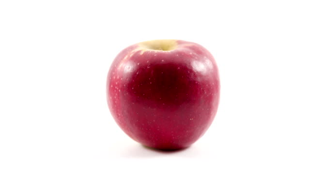 red apple bites stop motion - apple fruit stock videos and b-roll footage
