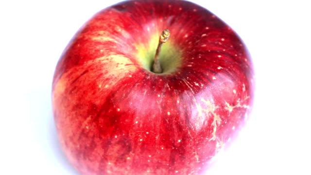 レッドアップル回転 - レッドデリシャス点の映像素材/bロール