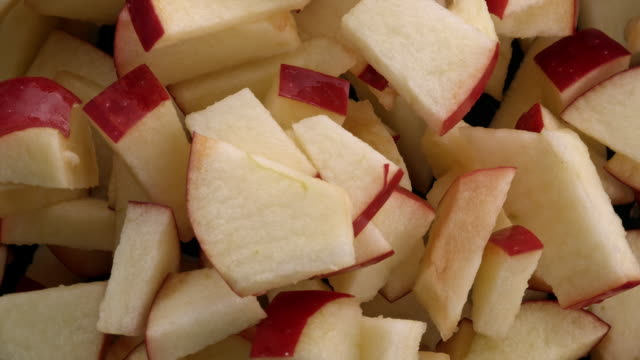 red apple slices in the air - cross section stock videos & royalty-free footage