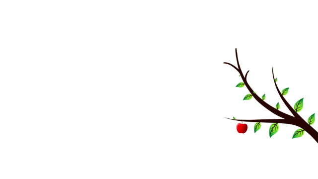 red apple tree - illustration stock videos & royalty-free footage