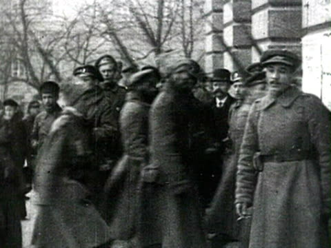 red army soldiers entering building audio / petrograd, russia - 1917 stock videos & royalty-free footage