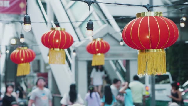 Red Asian Lanterns Market