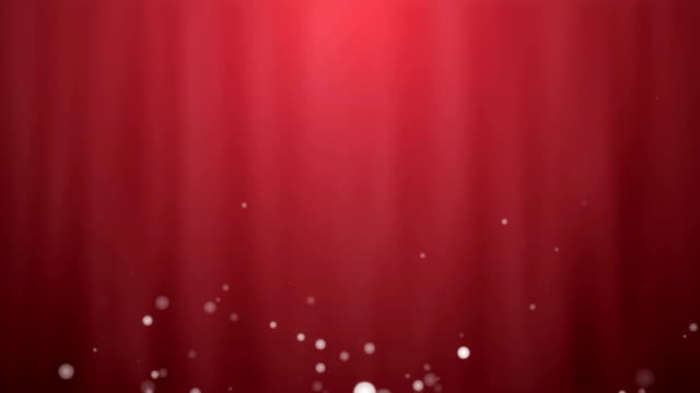 Red background with particles