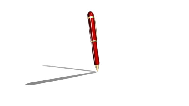 red ballpoint pen writing render - scribble stock videos & royalty-free footage