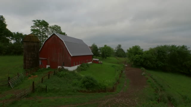 red barn - barn stock videos & royalty-free footage