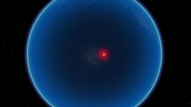 red blips mark volcanic activity on an animated map of the earth. - map marker stock videos and b-roll footage