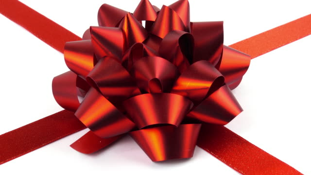 red bow - ribbon bow stock videos & royalty-free footage