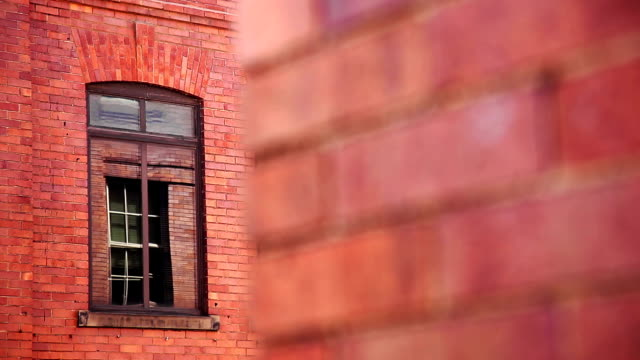 Red brick wall facade architecture background