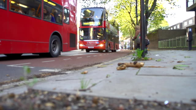 hd super slow-mo: red buses in london - english culture stock videos & royalty-free footage