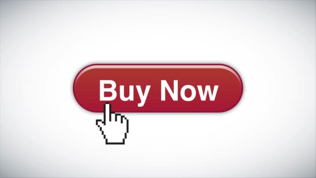 red buy now web interface button clicked with mouse cursor 4k stock video - cursor stock videos & royalty-free footage