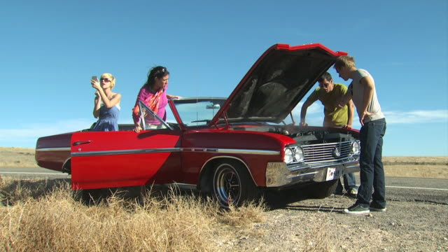 red car broken down - see other clips from this shoot 1138 stock videos and b-roll footage