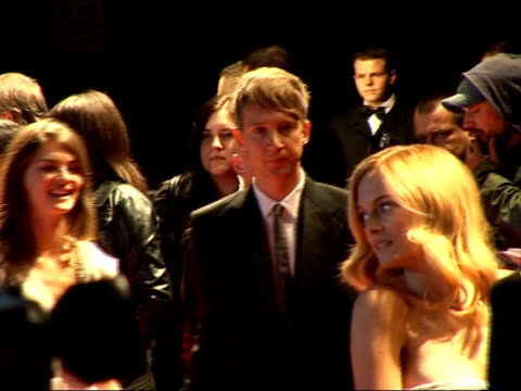 red carpet arrivals and interviews at fashion rocks 2007; heather graham posing on red carpet wearing pink strapless dress **flash photography** - strapless stock videos & royalty-free footage
