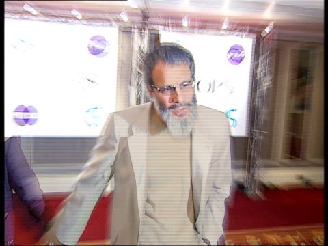 Red carpet arrivals and interviews at the Ivor Novello Awards **BEWARE London Grosvenor House INT Yusuf Islam along on red carpet and posing for...