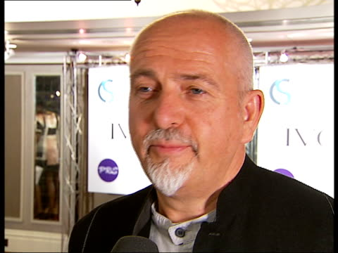 red carpet arrivals and interviews at the ivor novello awards peter gabriel interview sot when i started out i wanted to be a songwriter more than a... - soul music stock videos & royalty-free footage
