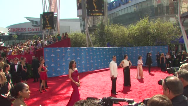 red carpet at the 62nd primetime emmy awards - arrivals part 3 at los angeles ca. - emmy awards stock videos & royalty-free footage