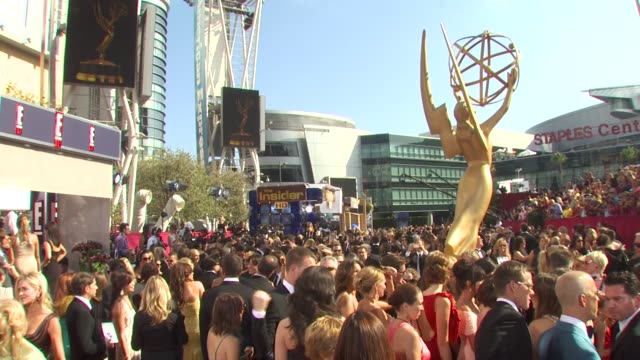 red carpet at the 62nd primetime emmy awards arrivals part 3 at los angeles ca - アトモスフィア点の映像素材/bロール