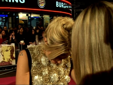 red carpet interviews at 'factory girl' film premiere; sienna miller speaking to press sot - on happiness at being there with friends and sister / on... - soap opera stock videos & royalty-free footage