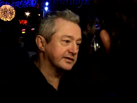 Red carpet interviews at premiere of 'It's a Boy Girl Thing' Louie Walsh interview SOT On contestants in 'X Factor' television programme/ On...