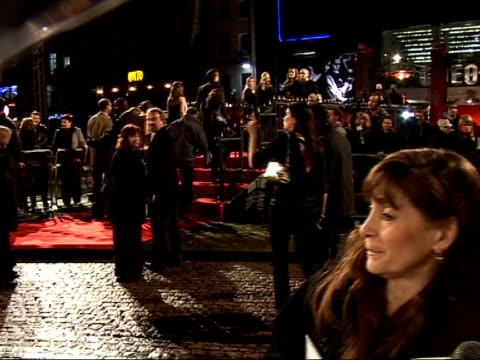 red carpet interviews at sweeney todd premiere; rickman speaking to press alan rickman interview sot - on playing a bad person after a series of good... - アラン・リックマン点の映像素材/bロール