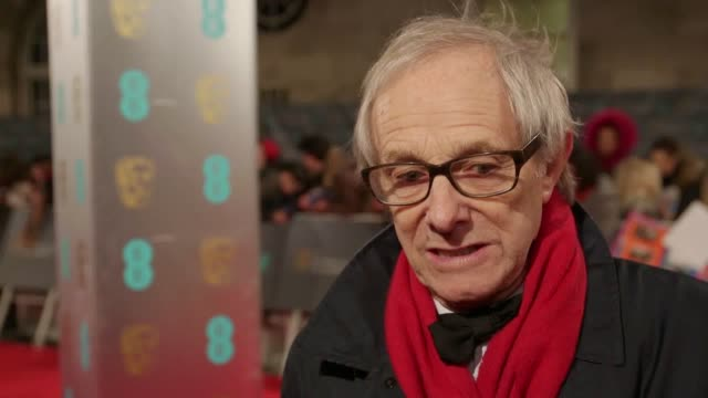 red carpet interviews with ken loach dave johns linmanuel miranda julia stiles and laia costa at the 2017 bafta awards - julia stiles stock videos and b-roll footage