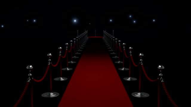 red carpet - brightly lit stock videos & royalty-free footage