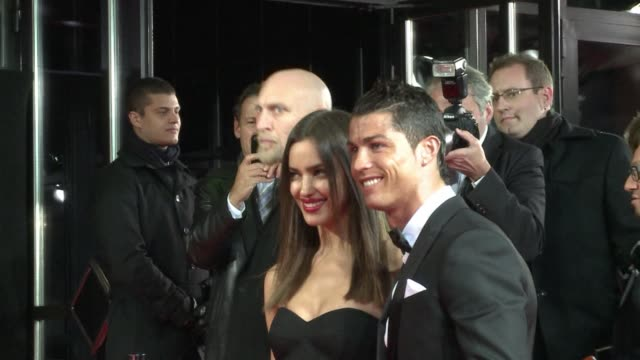 Red carpet with Andres Iniesta Cristiano Ronaldo and Lionel Messi who is favourite to become the first footballer to win a fourth successive Ballon...