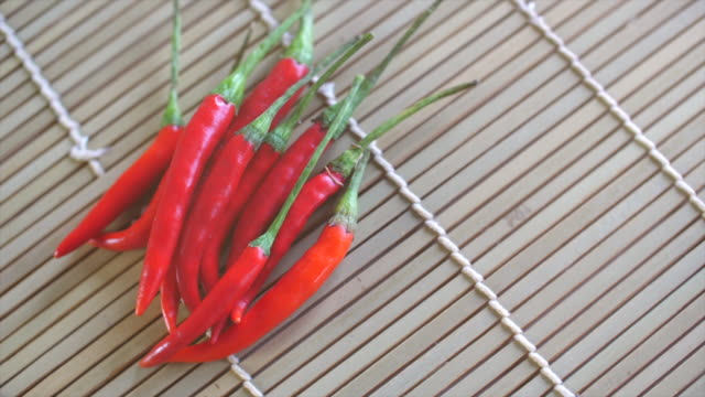 red chilli, rotate shot - peperone video stock e b–roll