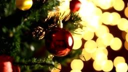 Red Christmas Balls on Christmas Tree