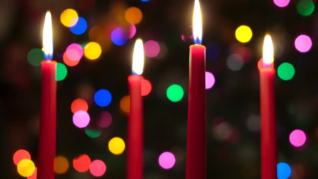 red christmas candles - advent stock videos & royalty-free footage