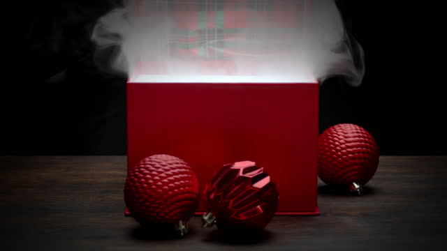 red christmas present - christmas gift stock videos & royalty-free footage