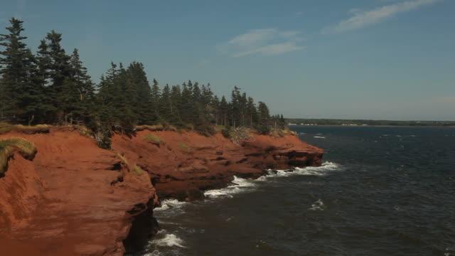 Red Cliffs On The Coastline