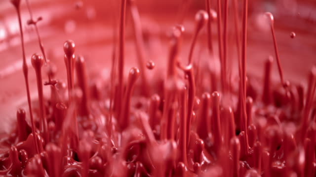 SLO MO red color dance by vibration
