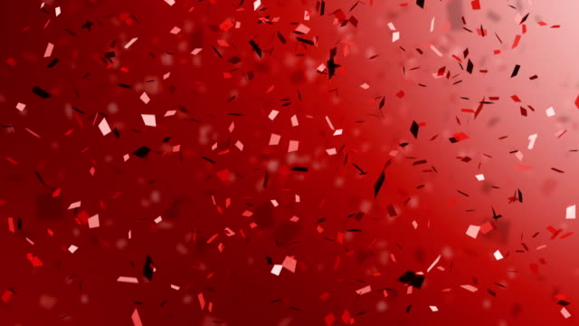 Red Confetti and celebration ribbons