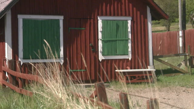 a red cottage sweden. - cottage stock videos & royalty-free footage