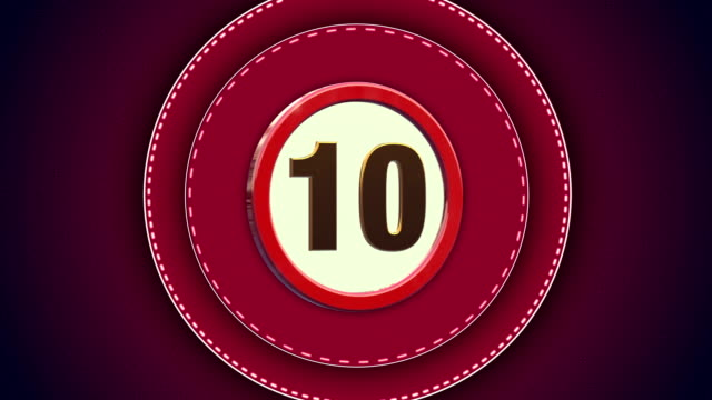 red countdown from 10 to 0 seconds - 4k video - number 5 stock videos & royalty-free footage