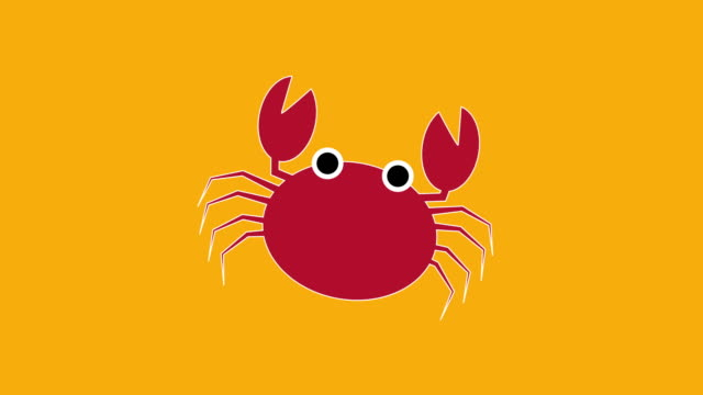 red crab - crab stock videos & royalty-free footage