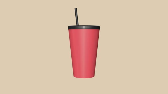 red cupabstract motion 3d rendering cartoon style fast food concept - packet stock videos & royalty-free footage