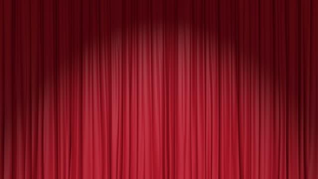 vídeos de stock e filmes b-roll de cortina vermelha - cortina
