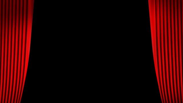 Rote Vorhänge öffnen Alpha enthalten