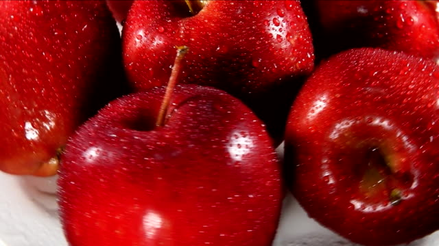 red delicious apples - red delicious stock videos & royalty-free footage