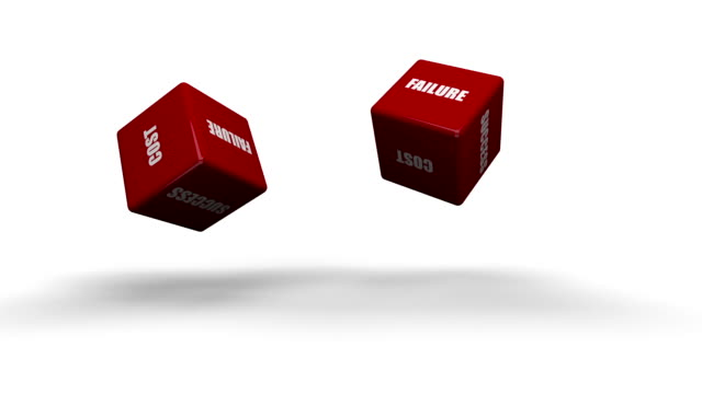 Red Dice With Business Words